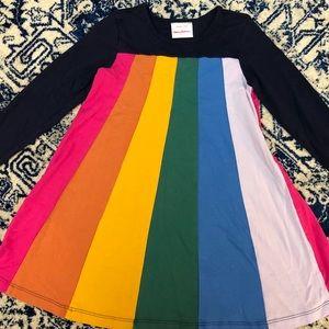 Hanna Andersson twirly rainbow dress